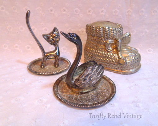 Silver Plate Figurines