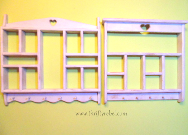 painted shelf makeover