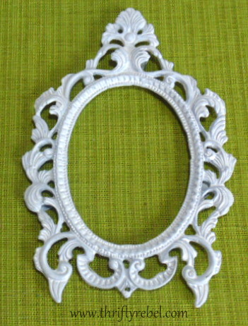 spray painting a picture frame