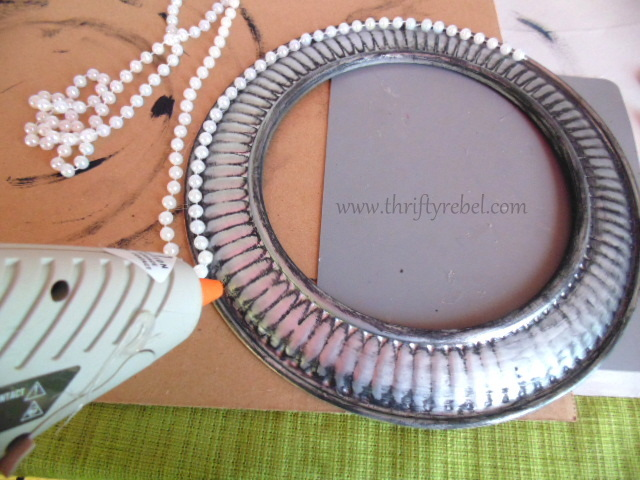 Gluing beading onto repurposed Stove Pipe Cover