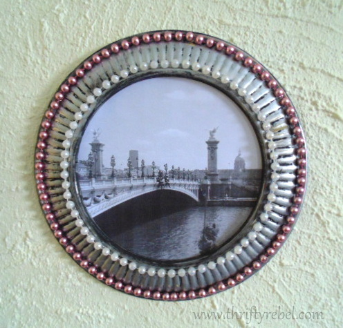 Painted Stove Pipe Cover picture frame