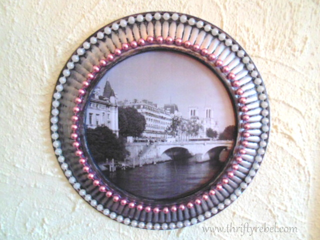Stove Pipe Cover Picture Frame Makeover