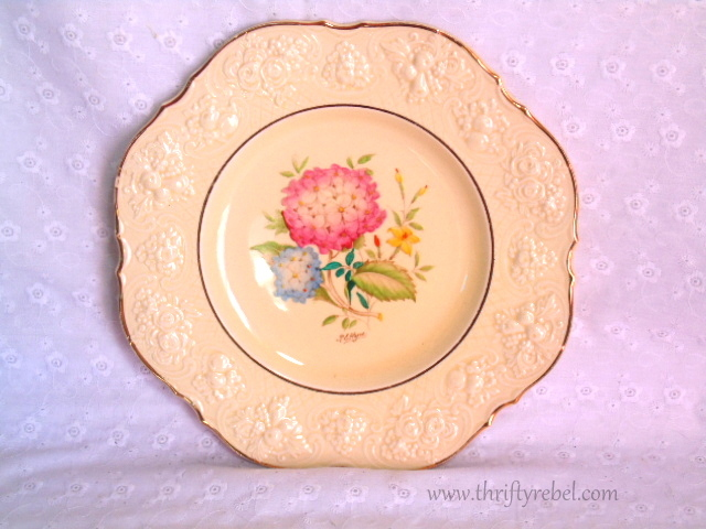Crown Ducal Hand painted Hydrangea Plate
