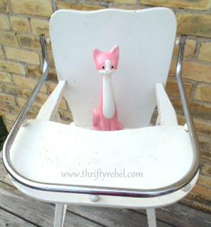 vintage pink cat