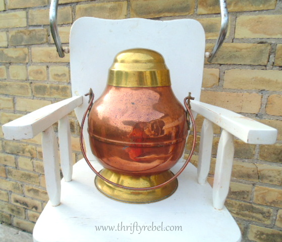 brass and copper urn