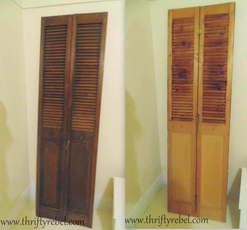 bifold door bookshelf - DIY Bifold Door And Dresser Bookcases - Thrifty Rebel Vintage