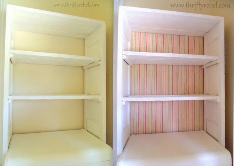 DIY Repurposed bifold door and dresser bookcases