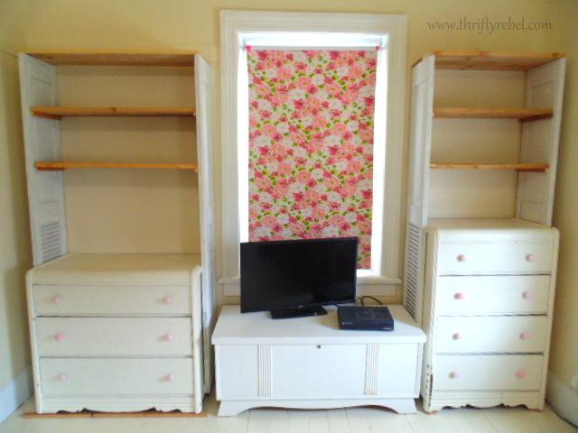 DIY Dresser and Bifold Door bookcases