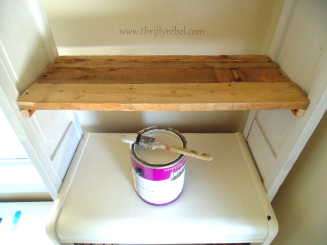 painting diy bookcases