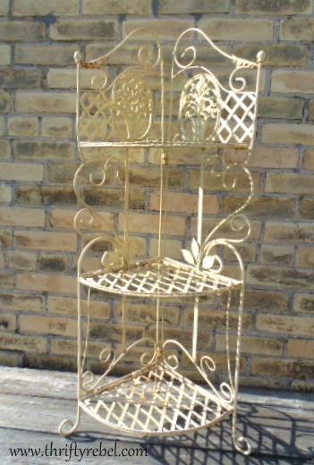 And My Favourite Find Is This Vintage Wrought Iron Corner Plant Stand