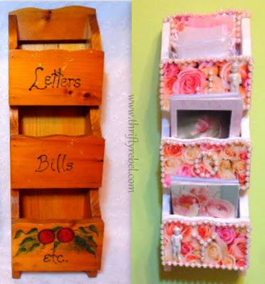 letter holder makeover / www.thriftyrebel.com