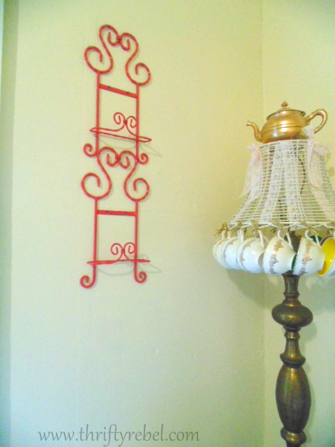 Painted Plate Rack Makeover