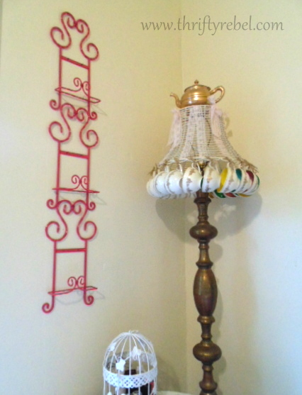 Painted Plate Holder Makeover