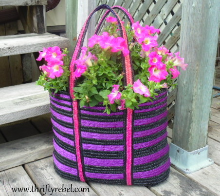 How to Make a Tote Bag Planter