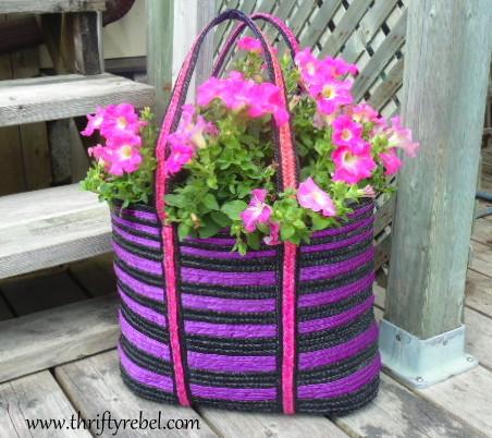 How to Make a Tote Bag Planter