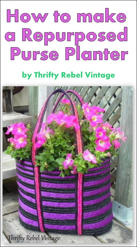 How to make a repurposed purse planter