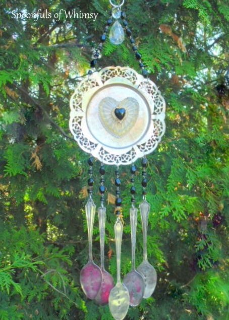 Heart Silverware Wind Chime
