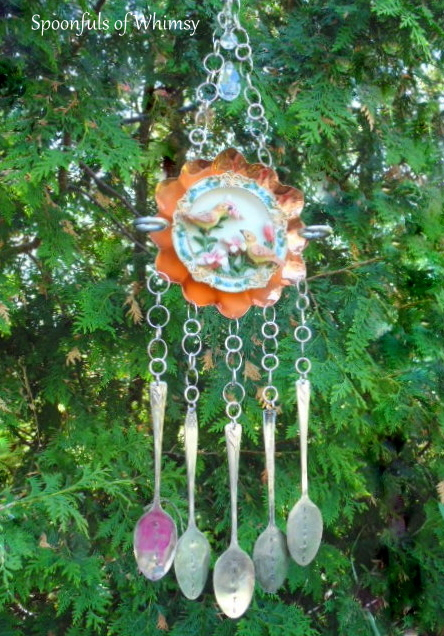 Copper Dish and Silverware Wind Chime