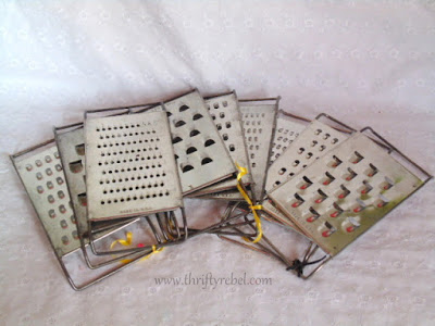 Vintage Cheese Grater Candle Holder