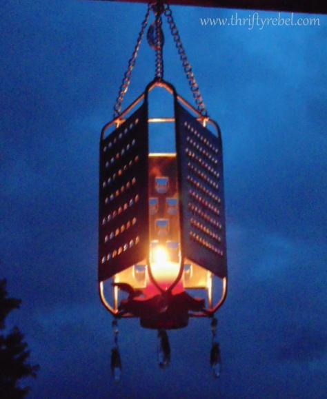 Cheese Grater Garden Lantern