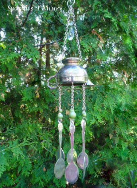Silver Creamer and Silerware Wind Chimes