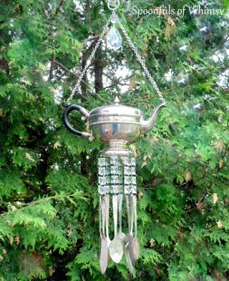 Teapot Silverware Wind Chimes