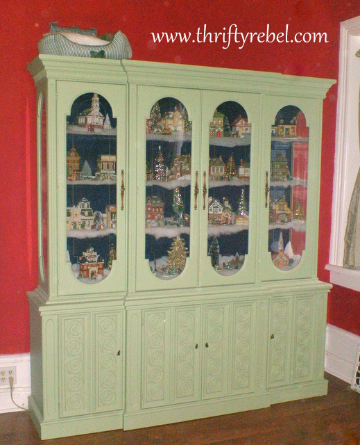 Christmas-village-display-cabinet