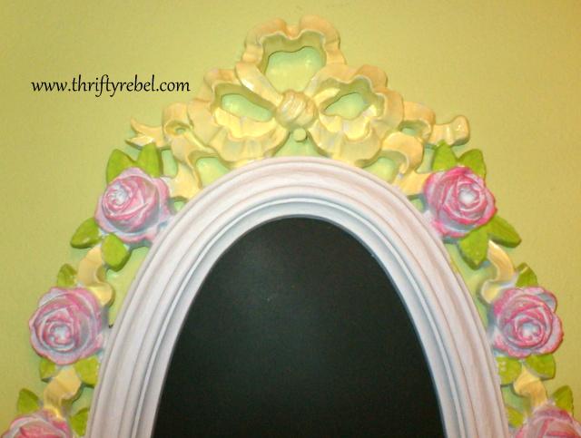 roses-ribbon-mirror-makeover