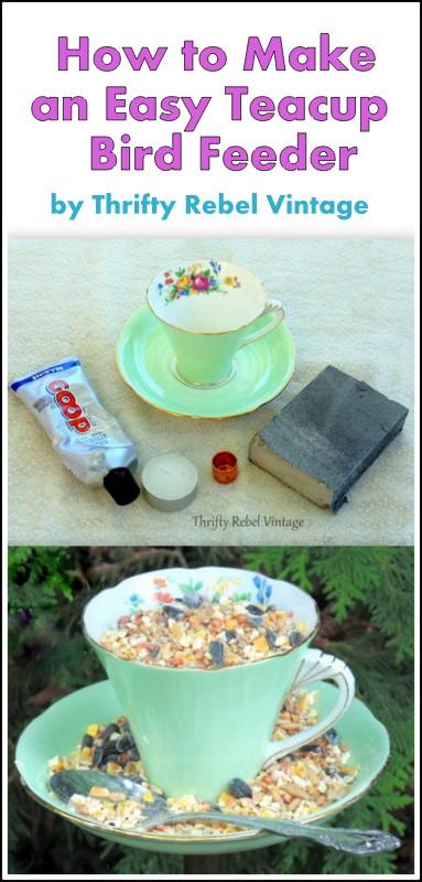 How to make a teacup bird feeder
