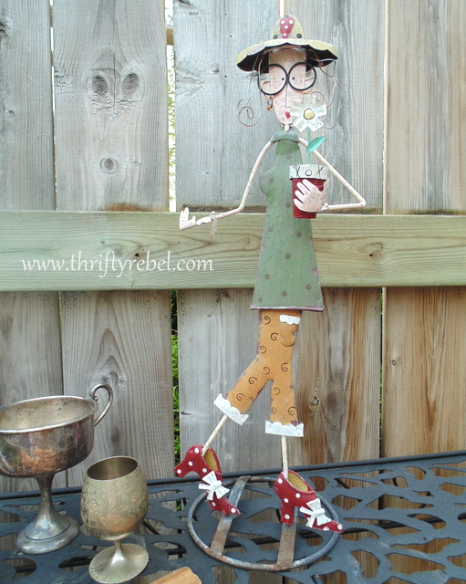 Gardening Lady Figure
