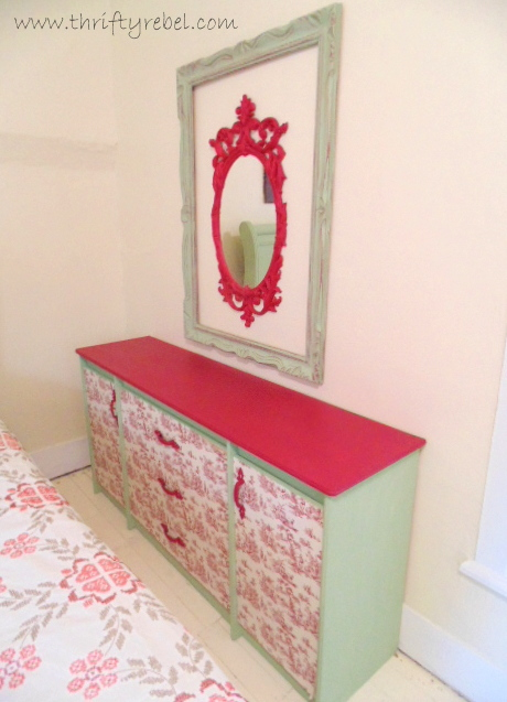 funky-toile-dresser-makeover