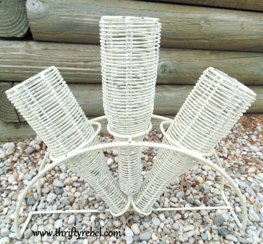 Shabby Chic Wire Triple Vase