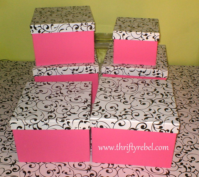 dollar stores boxes makeover for craft room storage