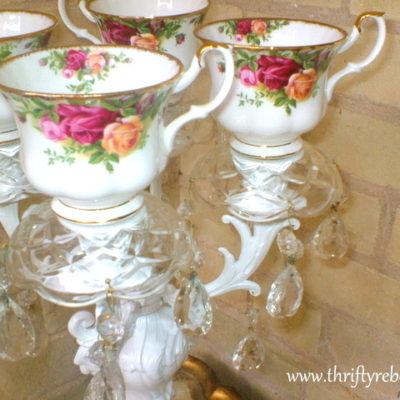 How to Make a Teacup Candelabra