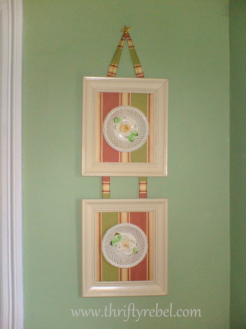 framing-ceramic-floral-plaques-with-fabric
