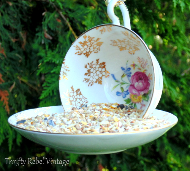 Easy DIY Teacup Bird Feeder