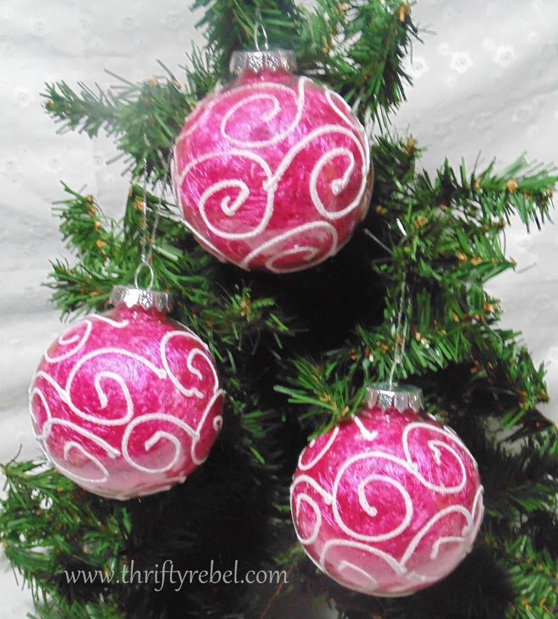 Easy Dollar Store Scarf Ornaments=