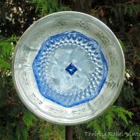 How to Make A Garden Art Dish Flower