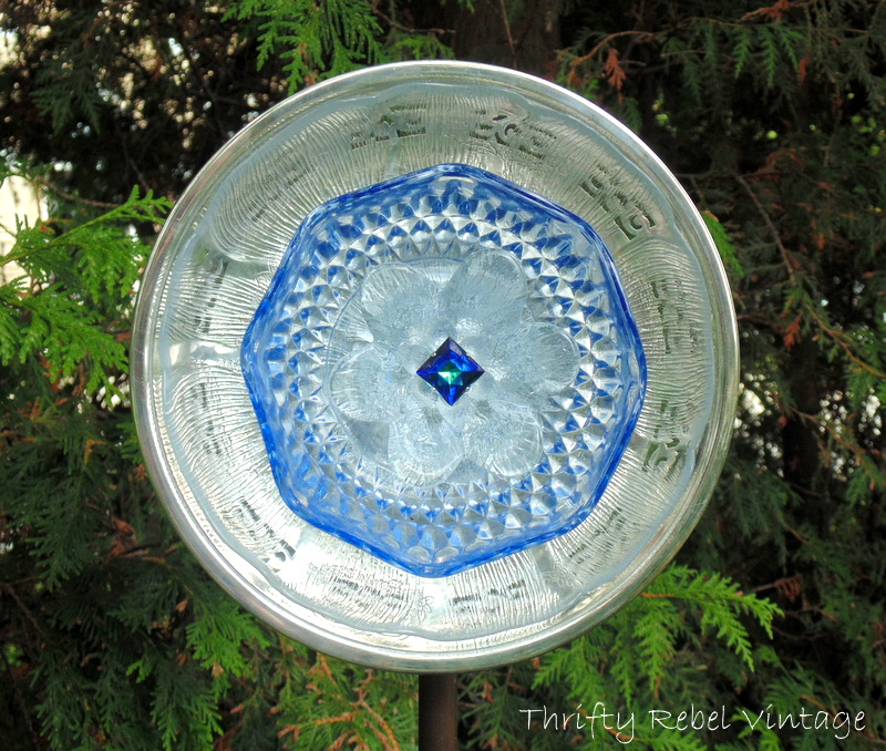 How To Make A Garden Art Dish Flower Thrifty Rebel Vintage