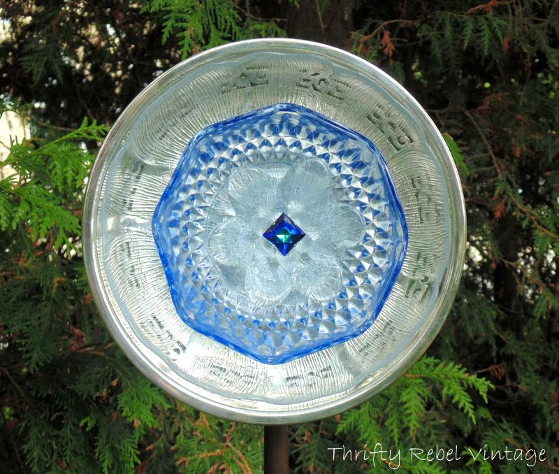 How To Make A Garden Art Dish Flower Thrifty Rebel Vintage