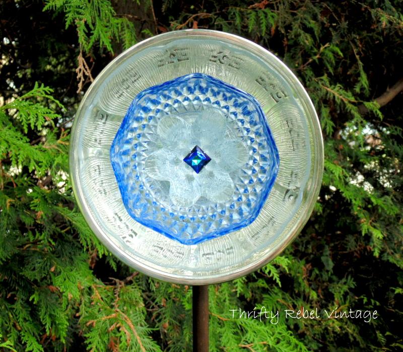 Garden Art Plate Flower