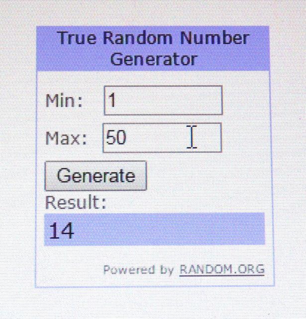 giveaway result