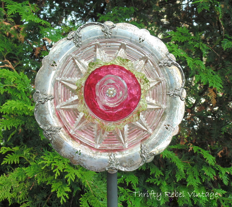 Garden Art Dish Flower