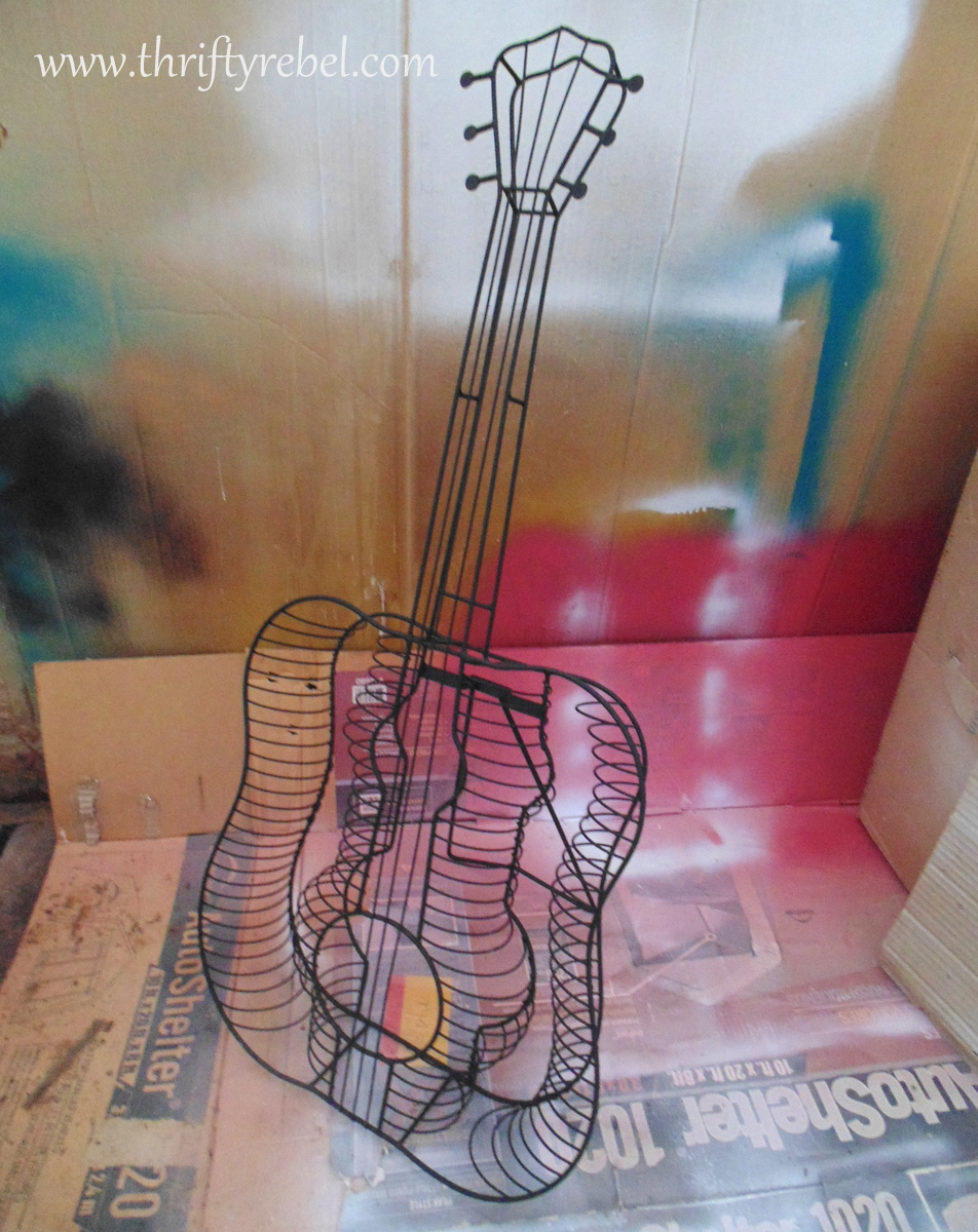 pink guitar wind chime