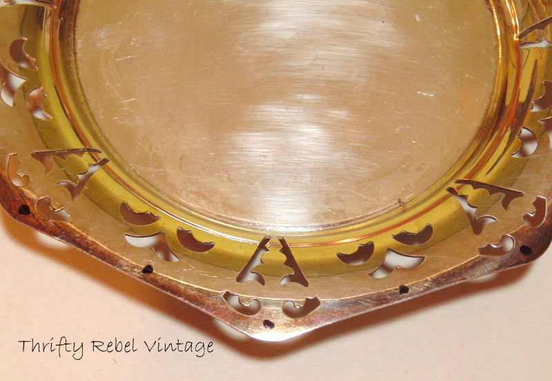 marking silver plate tray for drilling holes