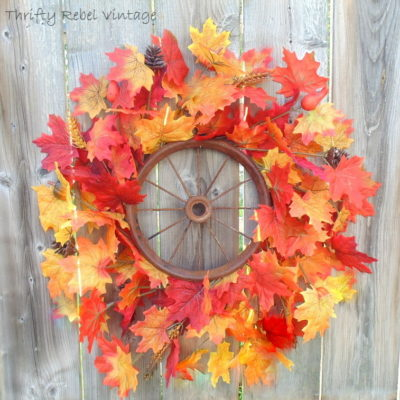 Repurposed Wheel Fall Wreath