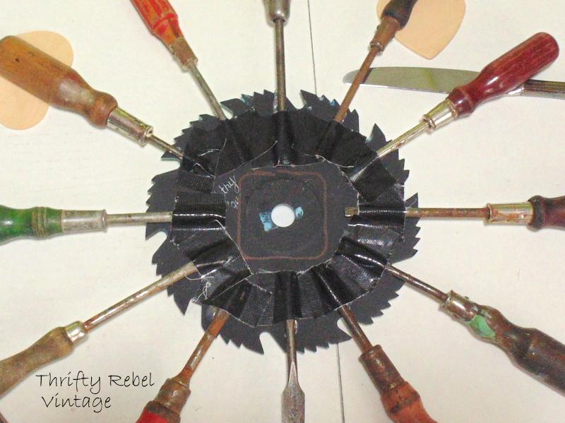 vintage screwdrivers clock