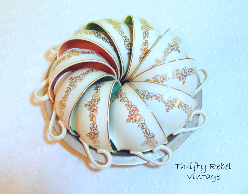 Vintage Teacup Pumpkin
