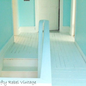 Painting a Wood Floor and a Faux Fix