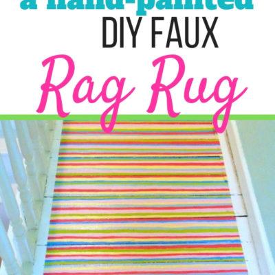 DIY Hand Painted Faux Rag Rug